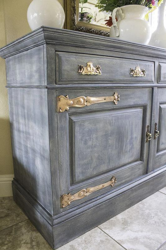 Distressed Furniture Painting, Grey Chalk Paint Furniture Ideas