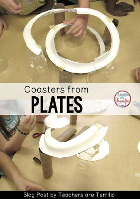 STEM Challenge: Make a marble run coaster using paper plates! Check this blog post for more!: