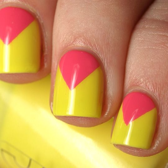 Doing this.  Chevron Nails.  But mine are going to be different colors.