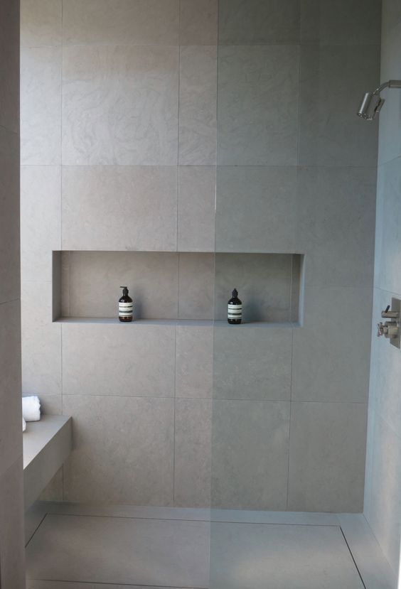 Neutral Matte Grey Large Scale Tiles Inspired By Concrete For A