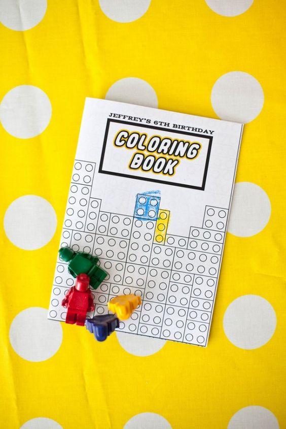 coloring lego book