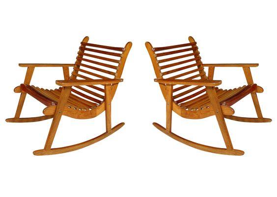 Michael Van Beuren Easy Rocking Chair Pair for Domus 2