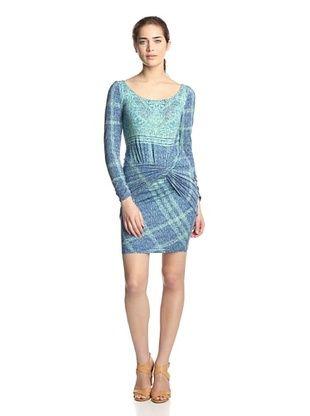 Hale Bob Women's Twist Front Dress (Blue)