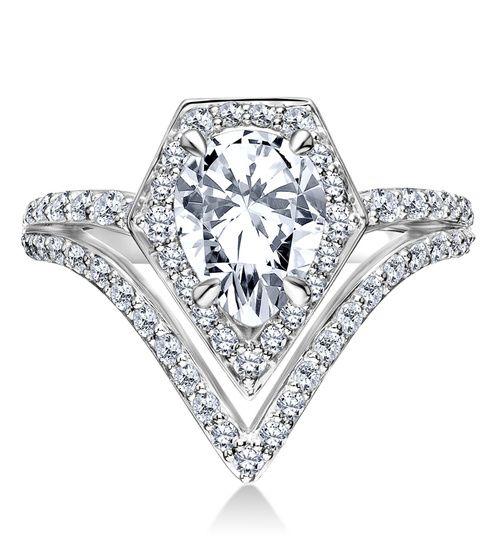 Bagues de fiancailles en diamant Karl Lagergeld