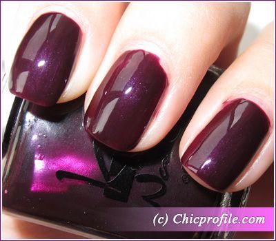 Kinetics Blackout nail polish – 2 coats + one layer of Nano Shark Nail Treatment as a top coat – flash light