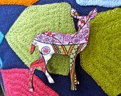 "Wooden Rabbit Brooch ""Sweet Geo"" - Geometric Bunny Design. $18.00, via Etsy."