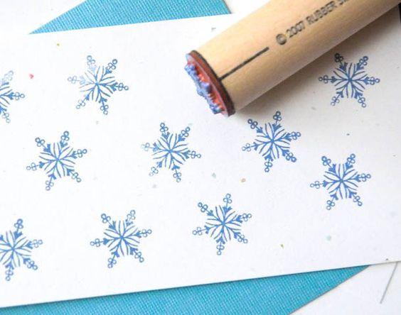 Filigree Snowflake Rubber Stamp by norajane on Etsy https://www.etsy.com/listing/59987113/filigree-snowflake-rubber-stamp