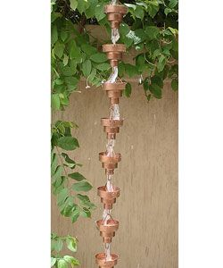@Overstock - Decorative and functional rainchain is ideal for patio or garden decor  Made of copper  Modern stylinghttp://www.overstock.com/Home-Garden/Copper-Bamboo-Rainchain/2177869/product.html?CID=214117 $80.99