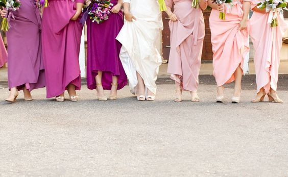 blushed bridesmaids- pretty pic by @Annie McElwain