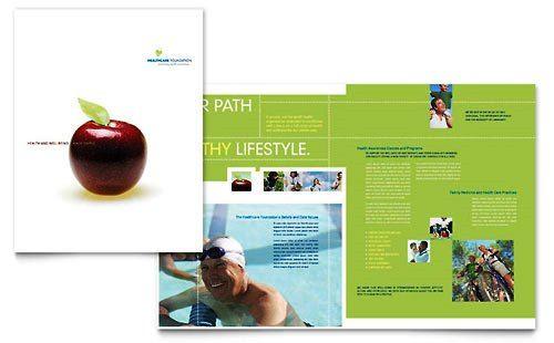 Contoh Pamflet Brosur Manajemen Kesehatan  Brochure  Pamphlet