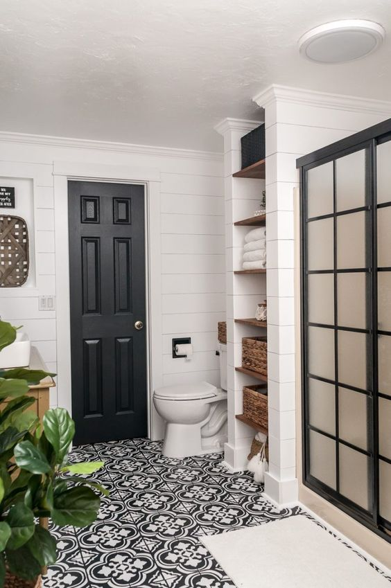 Farmhouse Bathroom Makeover ORC Week 7 - REVEAL! - Joyful Derivatives