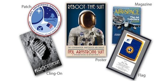 Ayuda a preservar el traje espacial de Neil Armstrong para la posteridad