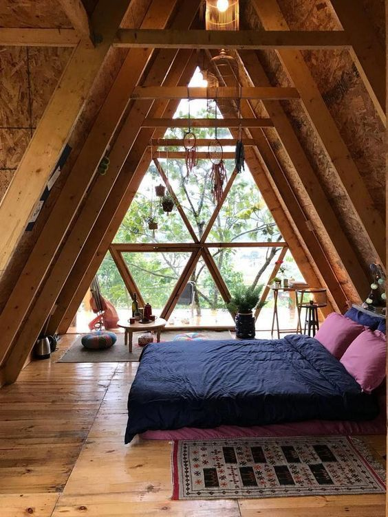 Cozy Attic Bedroom Ideas For Home Minimalist A Frame House Rustic Bedroom Decor A Frame Cabin