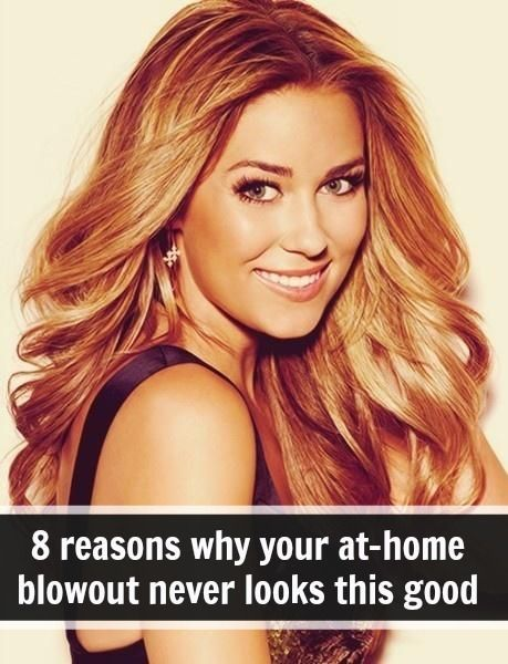 LOVE HER HAIR!!!  how to blow dry your hair at home