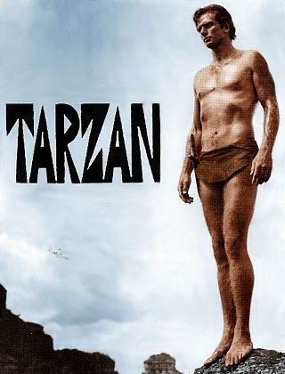 Tarzan - 1966 TV Show / Ron Ely was a rather skinny Tarzan.