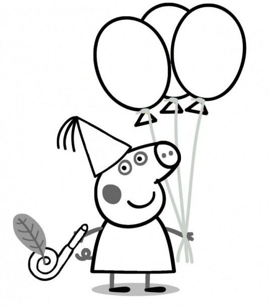 Happy Birthday Peppa Pig Coloring Pages Coloring Coloringpages Peppa Pig Zum Ausdrucken Ausmalbilder Ausmalen