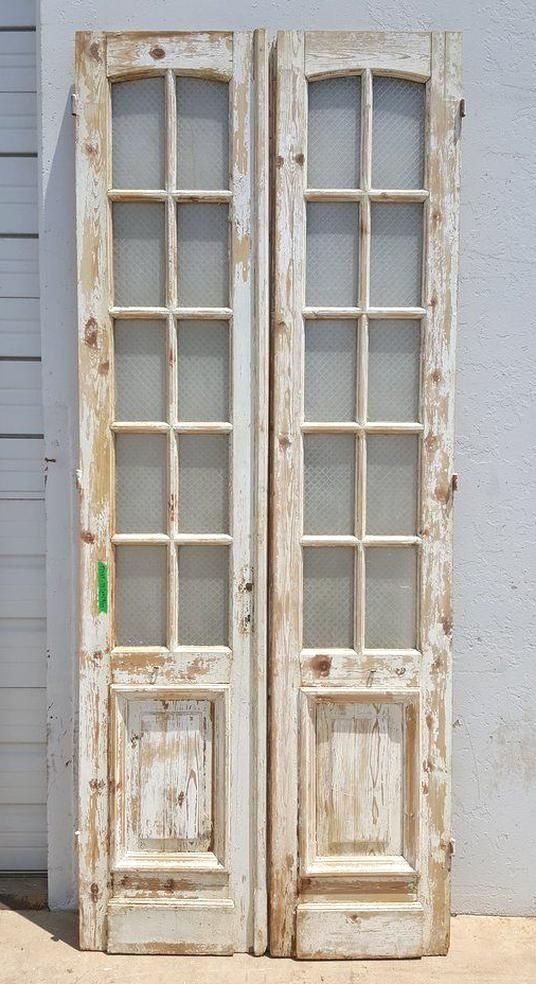 Pair Of 10 Pane French Doors In 2020 Antique French Doors French Doors Rustic Doors