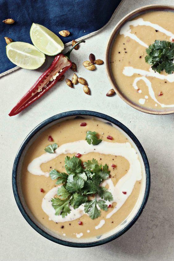 Butternut Squash & Coconut Soup: