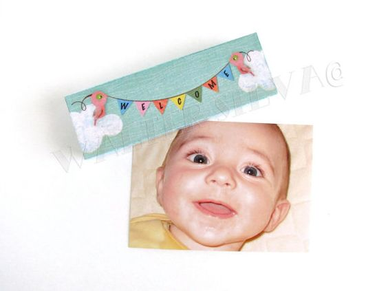 Baby Announcement Magnet WELCOME ART Magnet Baby Shower Gift – High End Birth Announcements