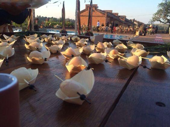 Lichia com mousse de Roquefort  para casamento na cidade de Itu