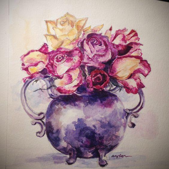 Watercolor - roses