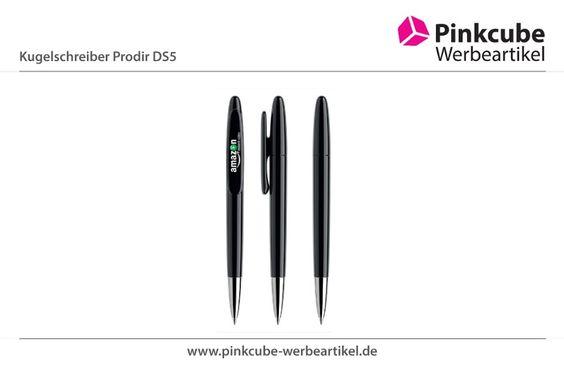 """Das Logo für Amazon Video ist auf den Prodir DS5 Kugelschreiber gedruckt worden.  http://www.kugelschreibershop.de  Der Prodir DS5  fällt durch originelle Form auf, für die er sogar in Japan die """"Good Design Award"""" Auszeichnung erhalten hat."""