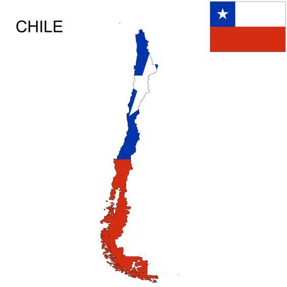 Chile Flag Map Chile Flag Chile Flag