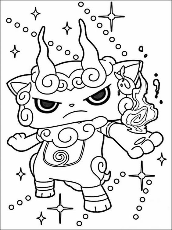 Yokai Watch Coloring Pages 2