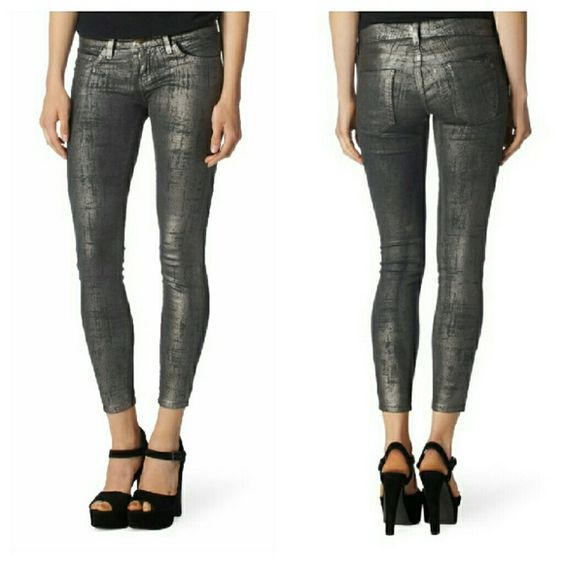 Current Elliot Silver Skinny Jeans PRICE FIRM NWT. Size 24. 7 ...