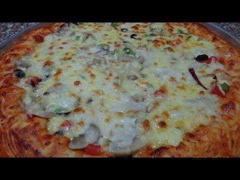 اسهل طريقه لعمل البيتزا احلي من المحلات مع صدفه جاد Youtube Food Cheese Pizza Pizza