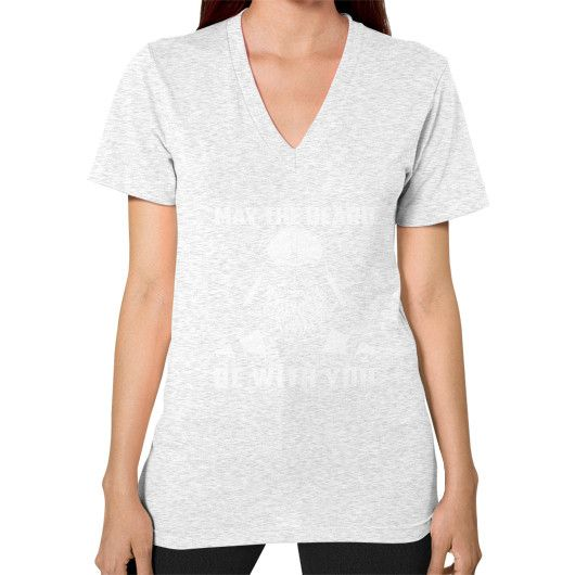 MY THE BEAWRD BE WITH YOU V-Neck (on woman)