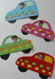 Car--with or without the weave & kids  faces.