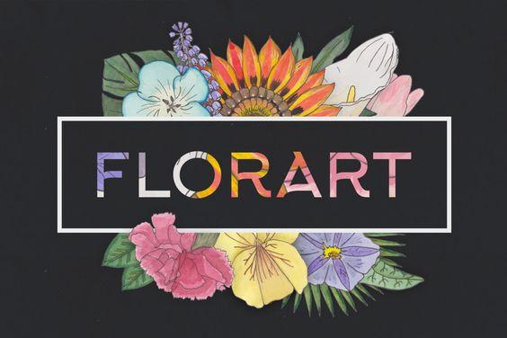 FlorArt Watercolor Kit by Veila on Envato Elements