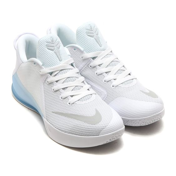 Nike Zoom Kobe Venomenon 6 Ep White Pure Platinum Blue Basketball Shoes Girls Basketball Shoes Nike Volleyball Shoes