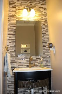 Powder Room Makeover lil' sprinkles of joy: powder room makeover | bathroom | pinterest