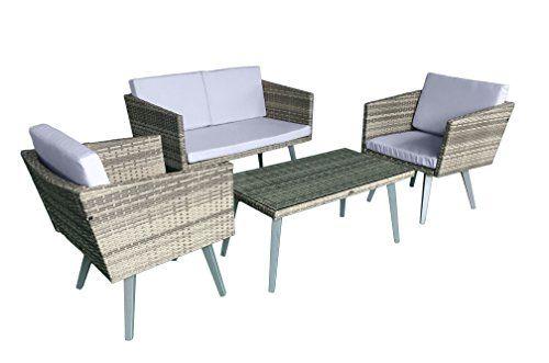 Jet Line Gartenset Cassis Gelb Grau Beige Meliert Lounge Garten