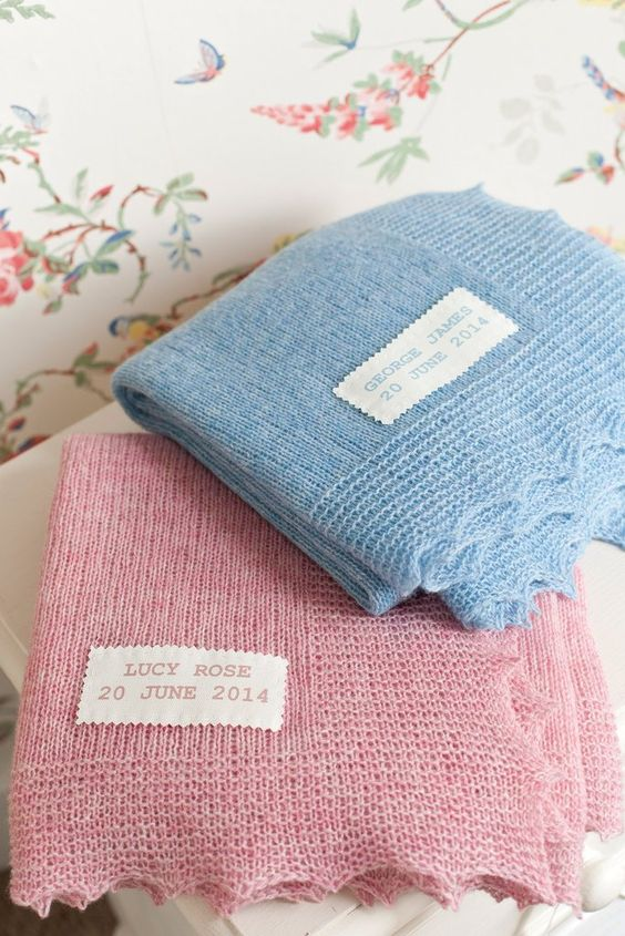 Knit Baby Blanket Garter Stitch : These lovely easy baby blankets are knitted in one piece with a light Shetlan...