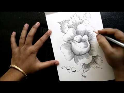 How To Draw A Flower Step By Step In 6 Minutes Youtube How To Shade Roses Drawing Flower Step By Step