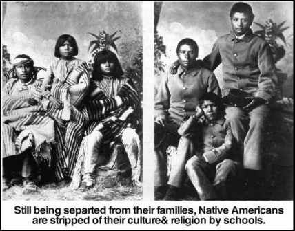 Image result for native american school children persecution