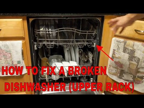 How To Fix The Top Rack On A Dishwasher Kenmore Elite Youtube