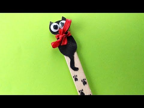 5 DIY Super Cute Cat Bookmarks - YouTube