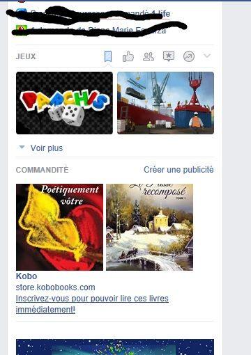Pub de Kobo et on voit mon livre Poétiquement vôtre diffusé sur leurs publicités sur Facebook.
