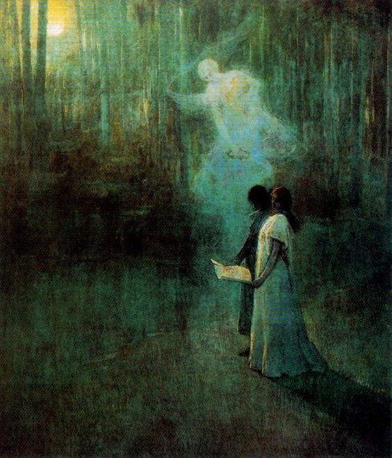 Love song, by Julio Romero de Torres Spanish Symbolist Painter 1880-1930