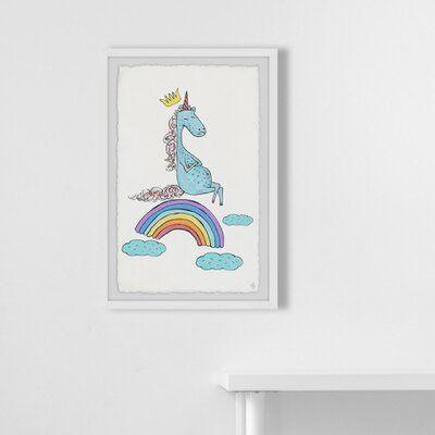 isabelle max crowley unicorn rainbow framed art framed art vintage lettering sunset art pinterest