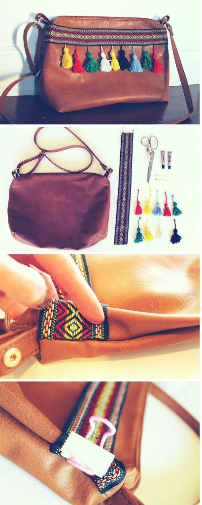 Have a boring brown purse? Give it a fun, bright makeover with this full DIY fashion tutorial. Create a unique bag with Boho Western Tassels and lots of personality to compliment your summer style. See the full how to HERE.