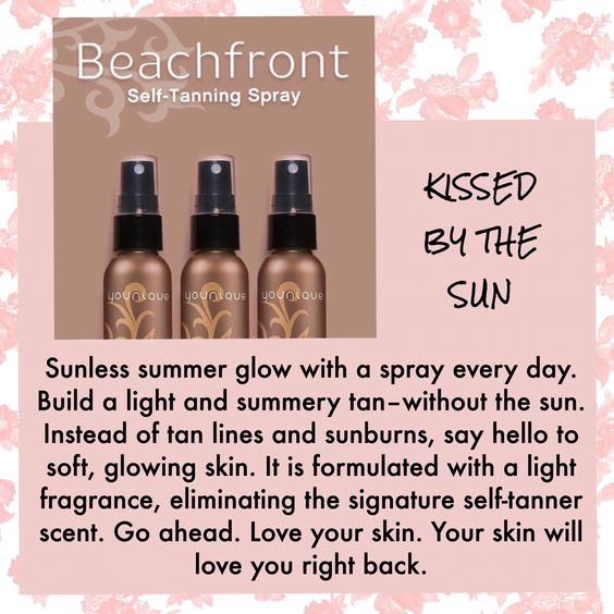 Younique's new Beachfront Self Tanning Spray @ www.vickis3Dlashes.com
