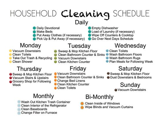 house cleaning schedule weekly household cleaning schedule house cleaning 12711
