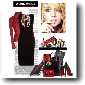 Work Wear in Red and Black