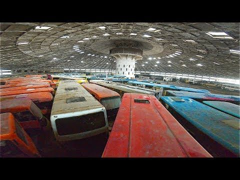 Found Hundreds Of Vehicles In Abandoned Soviet Spaceship Youtube Abandoned Vehicles Spaceship