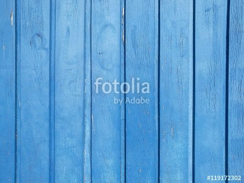 Himmelblau gestrichenes Holzpaneel einer alten Haustür am Hafen in Münster in Westfalen im Münsterland